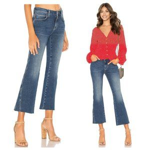 Free People Rita Crop Flare Raw Hem Split Jeans 26